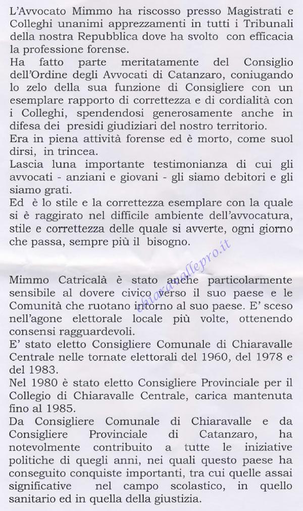 Necrologio in morte dell' Avvocato Domenico 2